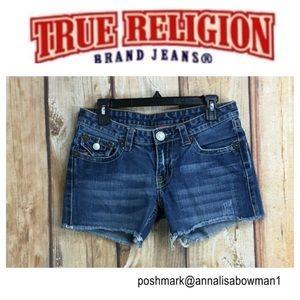 🌸True Religion Denim Cutoff Short size 30